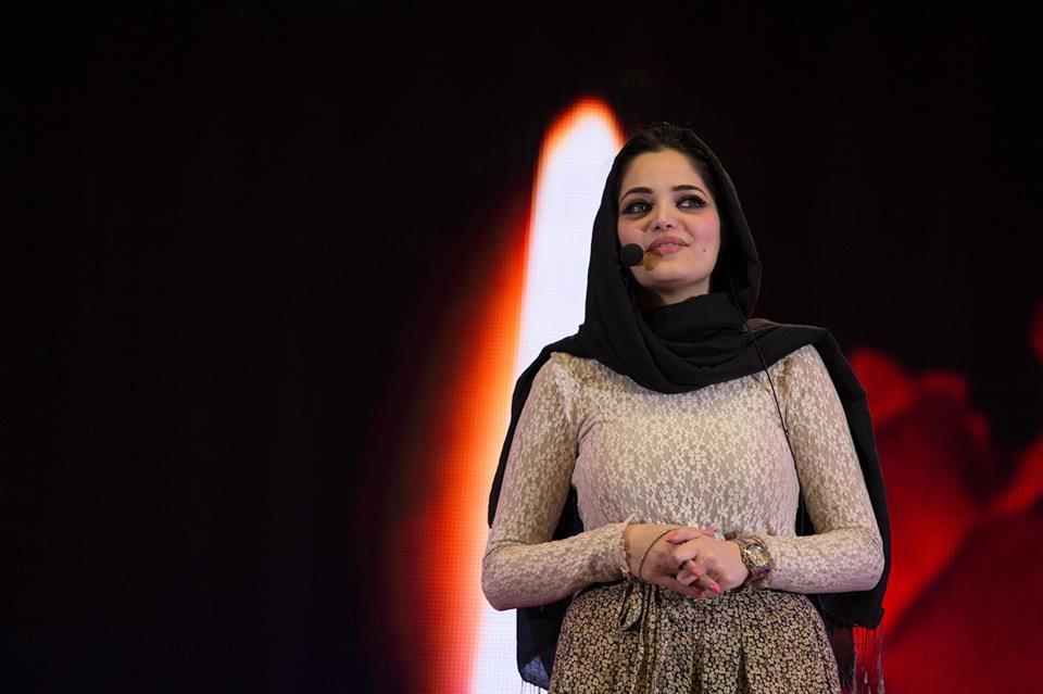 شههد ڕاوی تهمهن سیویهك ساڵ، نووسهری ڕۆمانی كاتژمێری بهغدا | فۆتۆ: TedXBaghdad