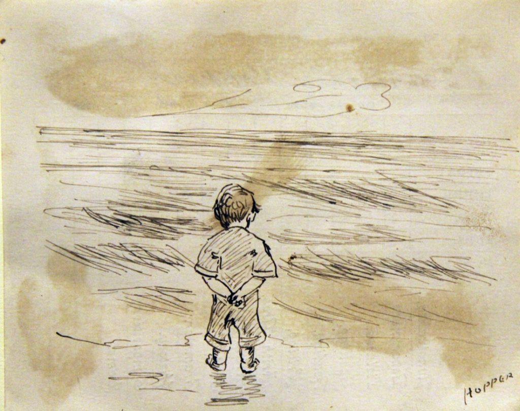 ئێدوارد هۆپەر، کوڕێکی بچووک لە دەریا دەڕوانێت 1891