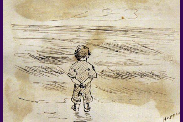 ئێدوارد هۆپەر، کوڕێکی بچووک لە دەریا دەڕوانێت | 1891
