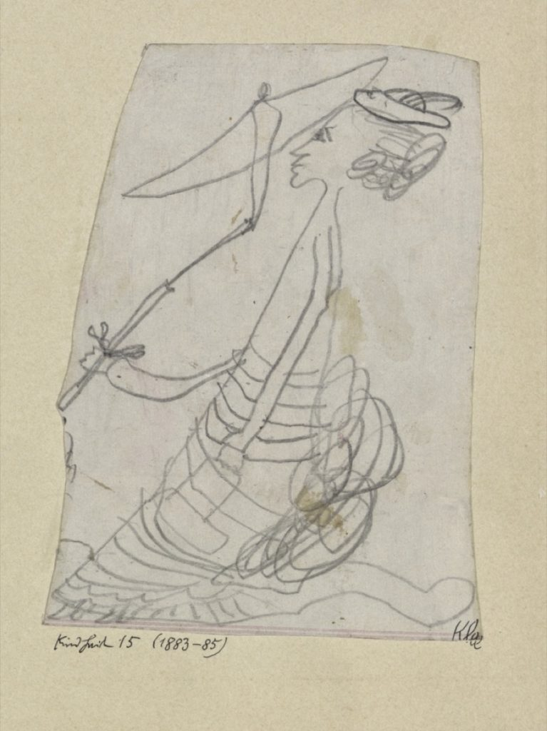 پاوڵ کلی، ژنێک بە چەترێکەوە (1883-1885)